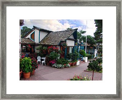 Normandy Inn - Carmel California Framed Print by Glenn McCarthy Art and Photography