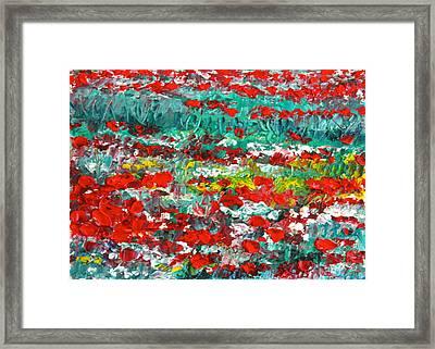 Normandy Poppy Field Dreams I Framed Print