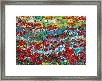 Normandy Poppy Field Dreams IIi Framed Print