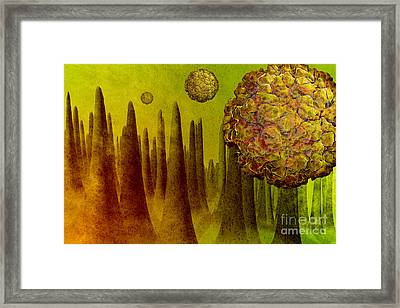 Norovirus In Small Intestine Framed Print by Carol and Mike Werner