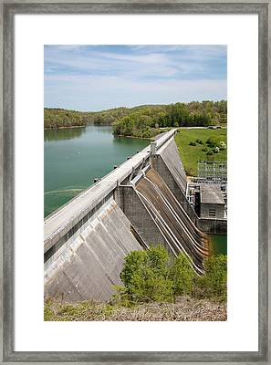 Norris Dam And Reservoir Framed Print by Jim West