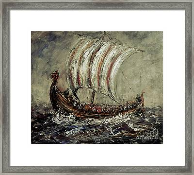 Norse Explorers Framed Print by Arturas Slapsys
