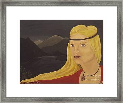 Norse Goddess Freya Framed Print by Megan Cockrell