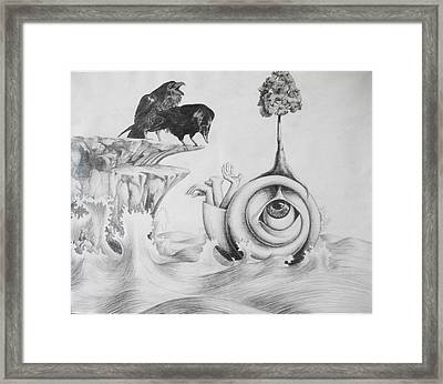 Norse Myth Framed Print by Carin Billings