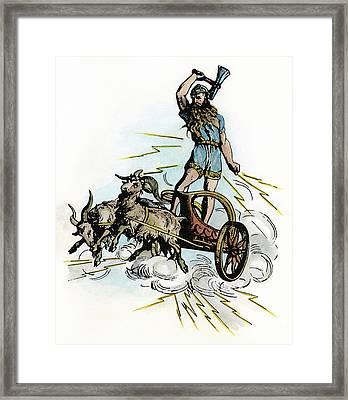 Norse Mythology Thor Framed Print