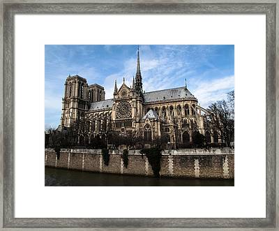 Norte Dame Cathedral-the South Side Framed Print