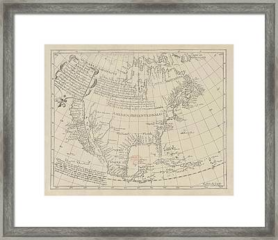 North America Framed Print by British Library