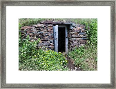 North America, Canada, Nl, Root Cellar Framed Print by Patrick J. Wall