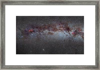 North America Nebula The Milky Way From Cygnus To Perseus And Andromeda Galaxy Framed Print