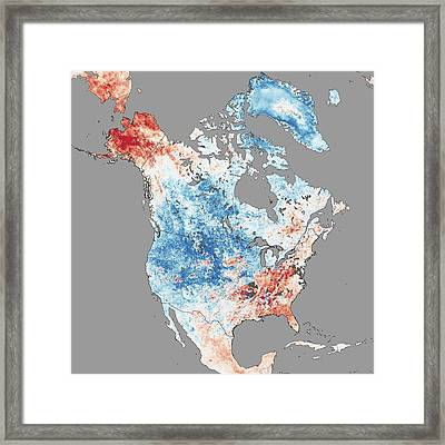 North America Temperatures Framed Print by Nasa