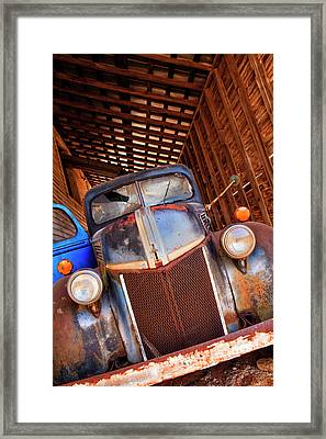 North America, Usa, Georgia, Old Rusty Framed Print by Joanne Wells