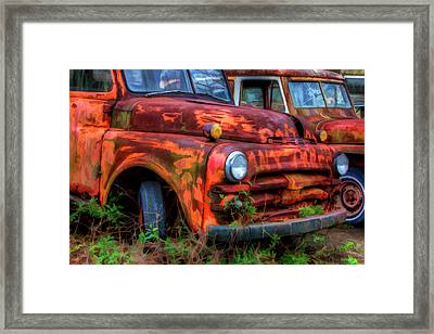 North America, Usa, Georgia, Rusty Framed Print by Joanne Wells