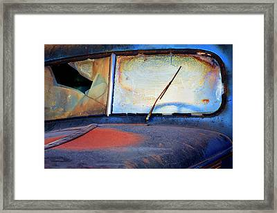 North America Usa Georgia Windshield Framed Print by Joanne Wells