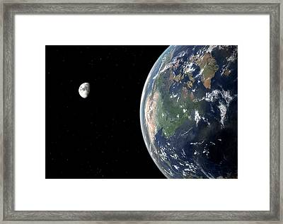 North America With Sea Level Rise Framed Print by Walter Myers