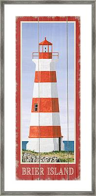 North American Lighthouses - Brier Framed Print