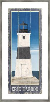 North American Lighthouses - Erie Framed Print