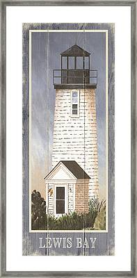 North American Lighthouses - Lewis Bay Framed Print by Gail Fraser