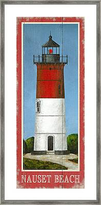 North American Lighthouses - Nauset Framed Print by Gail Fraser