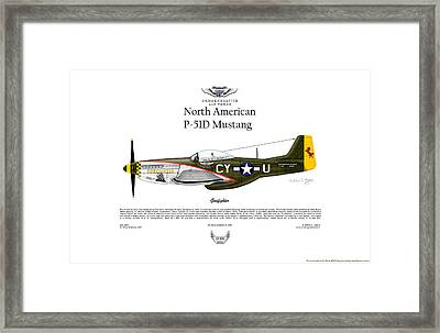 North American P-51d Mustang Gunfighter Framed Print by Arthur Eggers