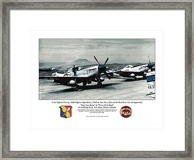 North American P-51d Mustang Framed Print by Kenneth De Tore