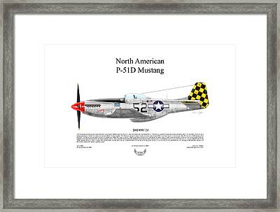 North American P-51d Shimmy Iv Framed Print by Arthur Eggers