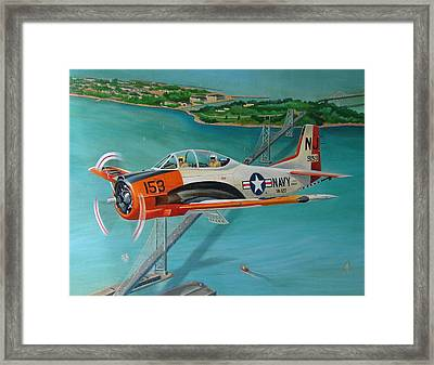 North American T-28 Trainer Framed Print