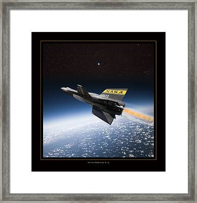 North American X-15 Framed Print by Larry McManus