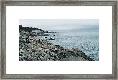 North Atlantic Framed Print by Christy Usilton