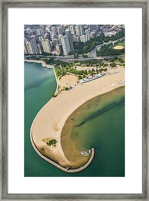 North Avenue Beach And Castaways Restaurant Framed Print
