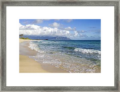 North Beach Kaneohe 7 Framed Print