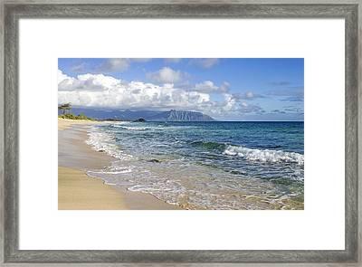 North Beach Kaneohe 7 Watermarked Framed Print