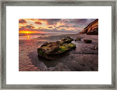 North Beach Rock II Framed Print by Peter Tellone