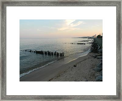 Framed Print featuring the photograph North Beach Sunset by Emmy Marie Vickers