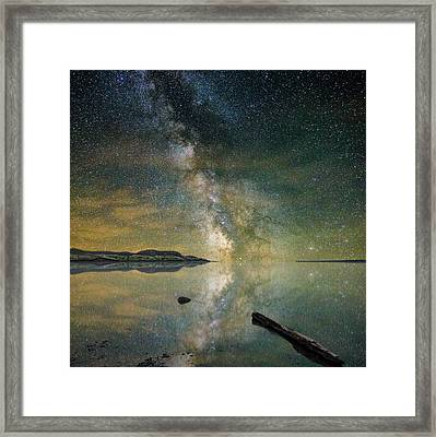 North Bend Milky Way Framed Print by Aaron J Groen