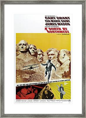 North By Northwest - 1959 Framed Print by Georgia Fowler