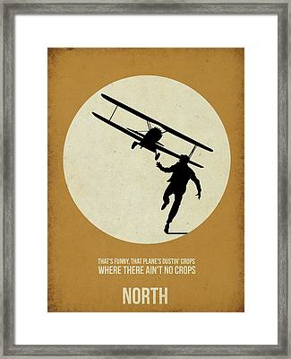 North By Northwest Poster Framed Print by Naxart Studio