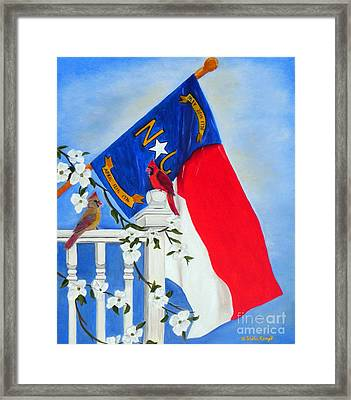 Framed Print featuring the painting North Carolina - A State Of Art by Shelia Kempf