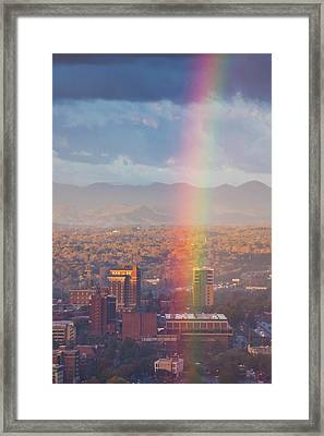 North Carolina, Asheville, Elevated Framed Print by Walter Bibikow