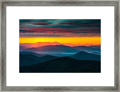 North Carolina Blue Ridge Parkway Morning Majesty Framed Print by Dave Allen