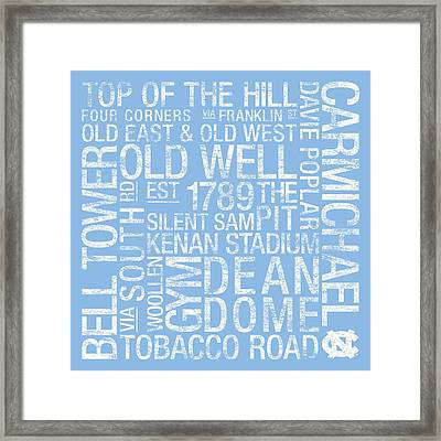 North Carolina College Colors Subway Art Framed Print