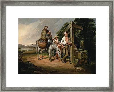 North Carolina Emigrants, Poor White Folks, 1845 Oil On Canvas Framed Print by James Henry Beard