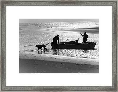 North Carolina Fishermen Framed Print