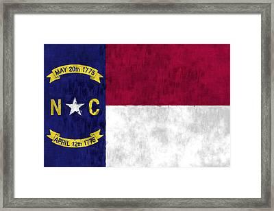 North Carolina Flag Framed Print by World Art Prints And Designs