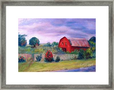 Framed Print featuring the painting North Carolina  by Marcia Dutton