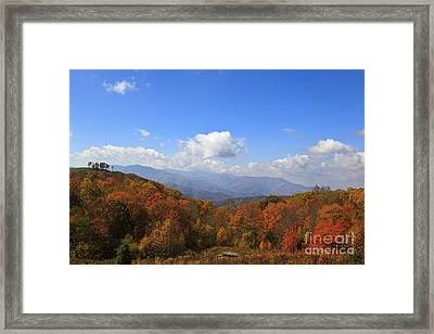 North Carolina Mountains In The Fall Framed Print