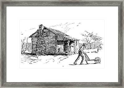 North Carolina Ploughing Framed Print