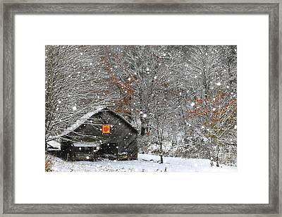 North Carolina Quilt Barn Framed Print