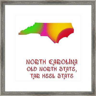 North Carolina State Map Collection 2 Framed Print by Andee Design