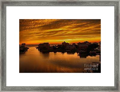 North Carolina Sunset Framed Print by Tony Cooper