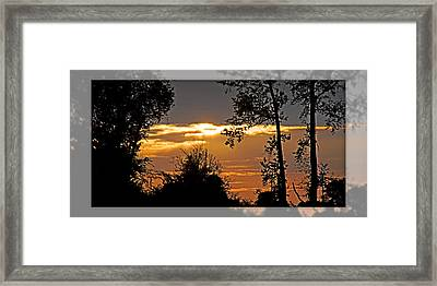 North Carolina Sunset Framed Print